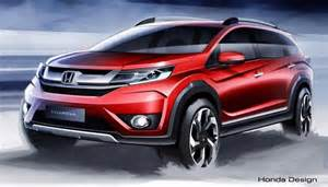 Honda 7 Seater Honda Sketches Out New Br V A 7 Seater Crossover For Asia