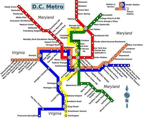 washington dc map subway washington dc the usa capital world easy guides