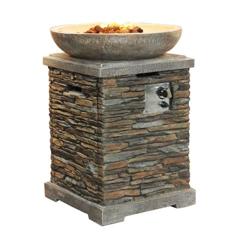 slate firepit slate effect gas pit and bowl