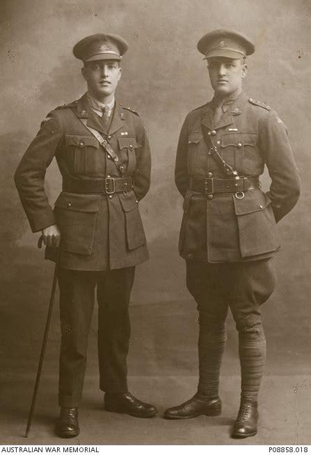 Bn 018 Blocknote Black studio portrait of lieutenant claude cyril mccann mc 27th battalion left with his