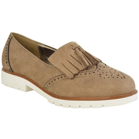 womens casual loafers womens flat casual brogues office fringe tassel