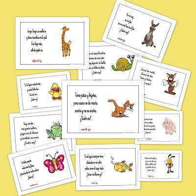 inventario ilustrado de animales 8415250339 fichas con adivinanzas de animales divertidas y practicas para trabajar en el aula inventario