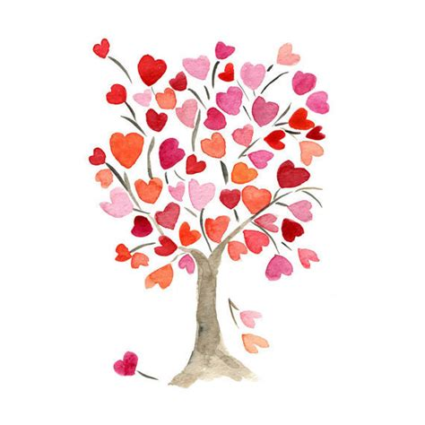 valentines painting the hearts tree print of original from thejoyofcolor