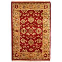 taj agra gold handwoven indian rug