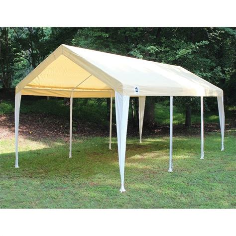 cing awnings and canopies king canopy 10 x 20 hercules canopy in tan and white