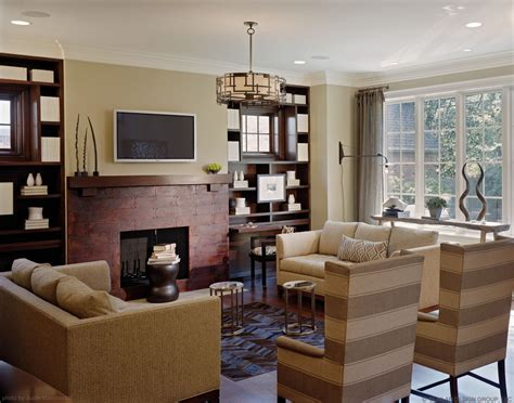 Family Room Ideas With Fireplace | baroque fireplace mantel height in family room traditional