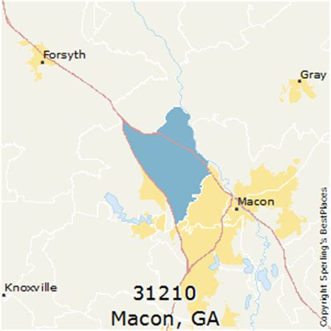 macon zip code map best places to live in macon zip 31210