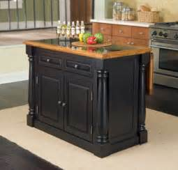 Home styles furniture monarch kitchen island w granite insert top from