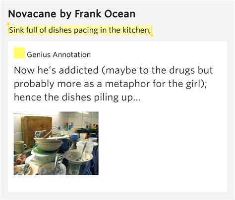 Kitchen Sink Zacks Rap Lyrics Sink Of Dishes Pacing In The Kitchen Novacane