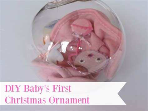 diy baby s first christmas ornament
