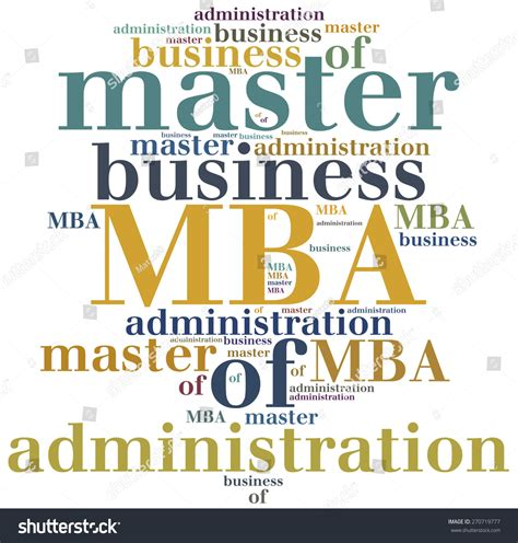 Mba Business Administration by Mba Master Of Business Administration Education Concept