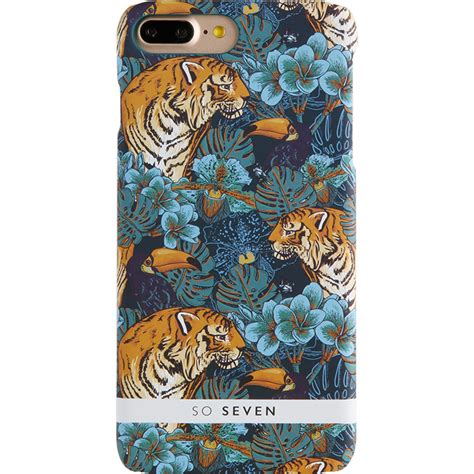 Indocustomcase Fericious Tiger Apple Iphone 7 Or 8 Cover phone cases jungle tiger and flower blue apple iphone 7 iphone 8 182353 quickmobile