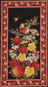bird  flowers panel fabric  timeless treasures