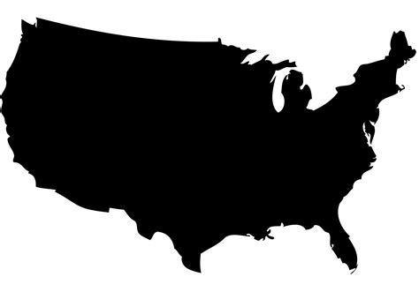 map of united states vector free us map silhouette vector