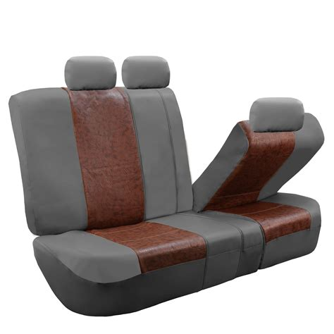leather bench seat covers textured pu leather split bench seat covers ebay