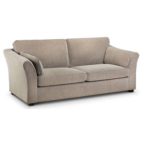 3 seater sofa hamilton fabric sofa with curved arms and high back modern