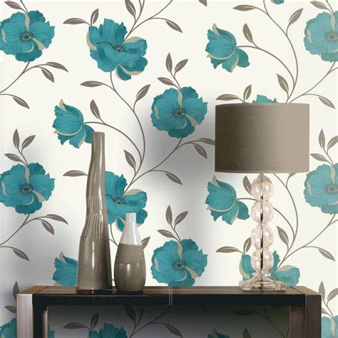wallpaper teal flower teal floral wallpaper wallpaper pinterest