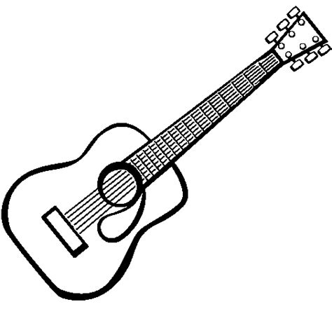 Spanish Guitar Coloring Page | spanish guitar ii coloring page coloringcrew com