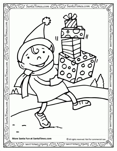coloring pictures of santa and elves santas elf coloring pages az coloring pages