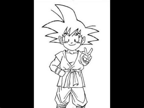 imagenes de goku dibujos mi dibujo de goku ni 241 o youtube