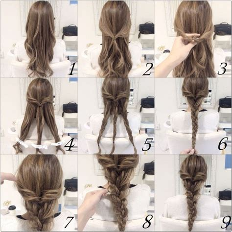 10 and easy hairstyles step by step braid hair