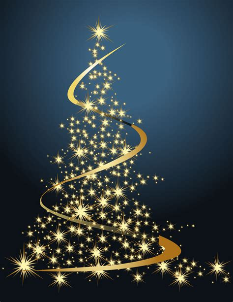 dream bright christmas tree vector free vector 4vector