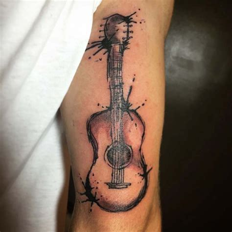 watercolor tattoo guitar 25 best ideas about acoustic guitar on