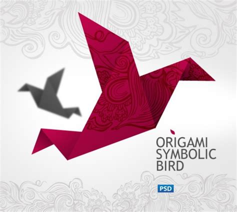 Origami Crane Template - origami cranes psd layered material millions
