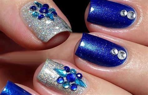 imagenes de uñas negras con azul u 241 as decoradas color azul u 241 asdecoradas club