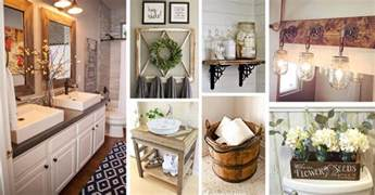 Decorating Ideas Bathroom Accessories 36 Best Farmhouse Bathroom Design And Decor Ideas For 2017