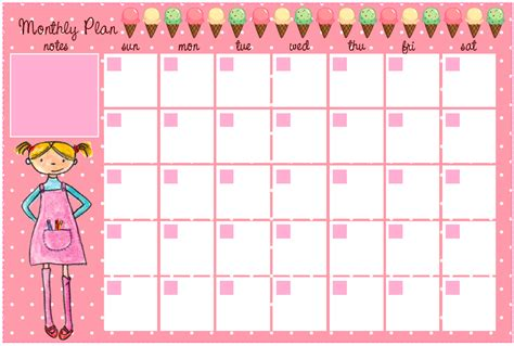 printable monthly agenda planner cute printable blank 2015 calendars new calendar