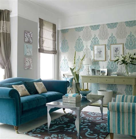 inspiring blue wallpaper small living room decosee
