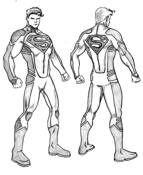 New 52 Justice League Coloring Coloring Pages Superboy Coloring Pages