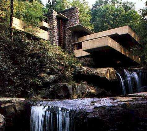falling water house behind the red house lockers falling water