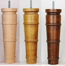 Wooden Turned Furniture Legs Brass Casters Ebay