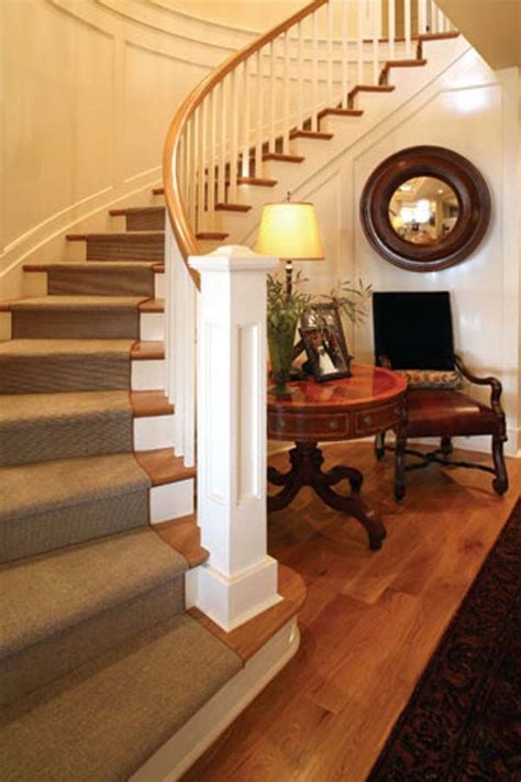 Home Stairs Decoration 65 Best Images About Ideas For Niche By Curving Staircase On Foyer Tables Entry