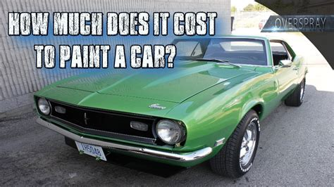 how much is a can of paint how much does it cost to paint a car