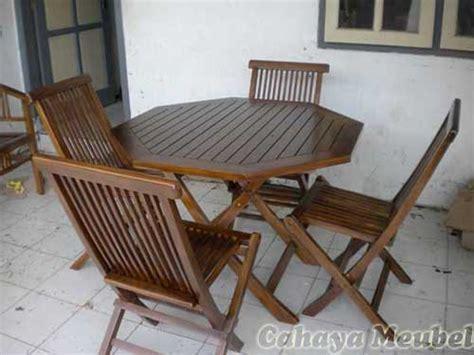 Kursi Lipat Kayu Jati set kursi lipat kayu jati cahaya mebel jepara