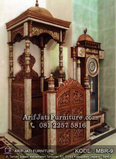 Lu Hias Kubah Masjid mimbar masjid dan jam hias masjid arif jati furniture