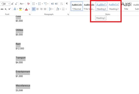 Table Of Contents In Word 2013 by How To Create A Table Of Contents In Word 2013 Tutorials