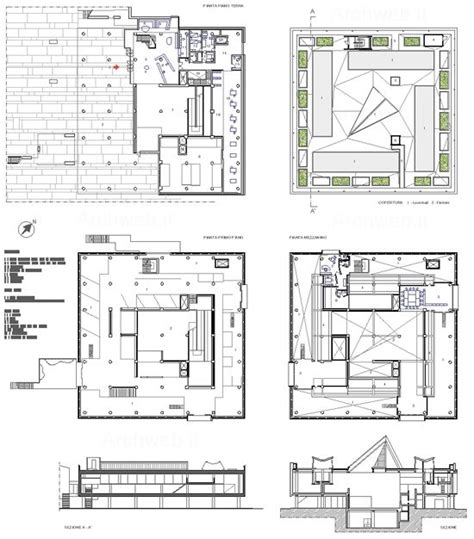 museum floor plan dwg new solaripedia green architecture national museum of western art tokyo plans drawing