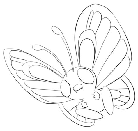 pokemon coloring pages caterpie butterfree coloring page free printable coloring pages