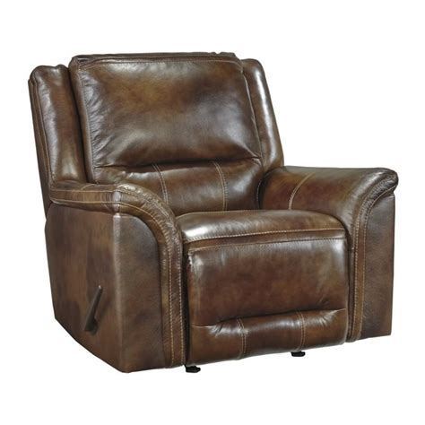 Leather Rocker Recliner by Jayron Leather Rocker Recliner In Harness U7660025