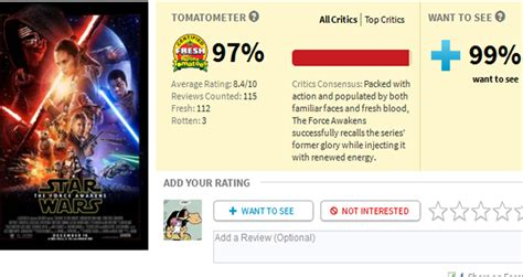 a wars story rotten tomatoes wars the awakens opens to 97 percent rating