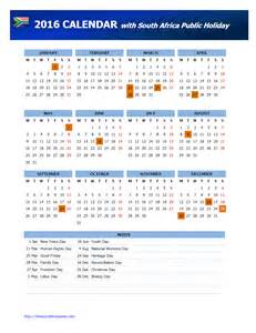 Calendar 2018 With Holidays In South Africa Calendar Freewordtemplates Net