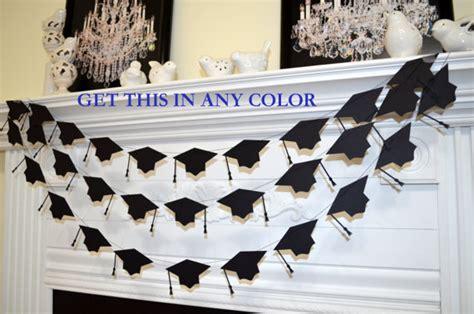 graduation room decorations graduation cap garland graduation cake table by dcbannerdesigns