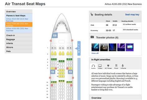 air transat reservation siege en ligne quel espace vous r 233 serve votre si 232 ge dans l avion