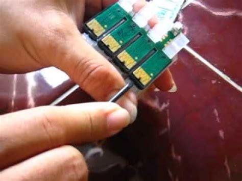 Ciss Epson Gabung T13 cara ganti chip gabung cartridge ciss epson t13 t11 t20e