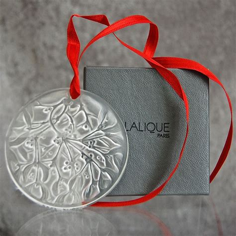 cristal lalique holiday ornament mistletoe 1988 from