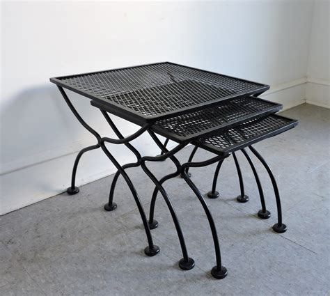 wrought iron tables for sale salterini mid century modern wrought iron patio nesting